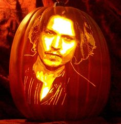 Pin for Later: 28 Wickedly Wonderful Pop Culture Jack-o'-Lanterns Johnny Depp