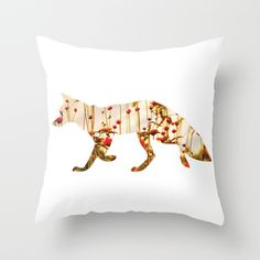 @paisleyprintsonline $20.00 http://society6.com/product/fox-erq_pillow#25=193&18=126