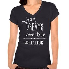 Let everyone know you're a realtor with this super cute fitted tee shirt. This can be worn casual or dressed up with a blazer. Let the leads come to you when you where this shirt out and about running errands!  *Sizes run small*