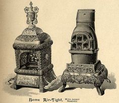 """Incorporated in 1872, these are examples of the products made by the Ohio Stove Company. Originally organized as a foundry to cast stove parts and assemble heating and cooking stoves, the company is now known as OSCO Industries. The stoves became widely known in the industry under the """"Buckeye"""" name. The company changed to commercial castings and sold the stove patterns in 1953. The name changed in 1972."""