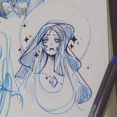 Blue Diamond Steven Universe, Steven Universe Gem, Universe Art, Art Sketches, Art Drawings, Drawing Art, Cn Fanart, Steven Universe Drawing, Character Design Inspiration