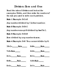 9 pages. Third Grade Division. 0 1 2 3 4 5 6 7 8 9 Math Division. Cute Pictures Included. Division Rules and Complete Division by Numbers 0 1 2 3 4 5 6 7 8 9. Mental Math, Life Skills, Critical Thinking, 3rd Grade Math Division, Printable Worksheets, Math Test Prep, and Assessment.