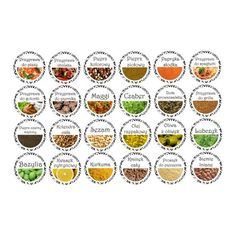 Etykiety przypraw - Hledat Googlem Spice Jar Labels, Spice Jars, Mini Foods, Dollhouse Miniatures, Spices, Barbie, Create, Kitchen, Image