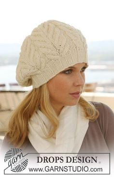 Free knitting patterns and crochet patterns by DROPS Design Knitting Patterns Free, Knit Patterns, Free Knitting, Free Pattern, Knit Or Crochet, Crochet Hats, Drops Design, Slouchy Hat, Knitting Accessories
