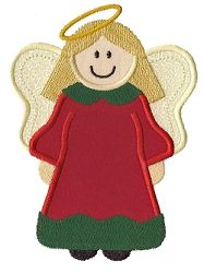 Christmas Angel Applique - 3 Sizes!   Angels   Machine Embroidery Designs   SWAKembroidery.com Applique for Kids