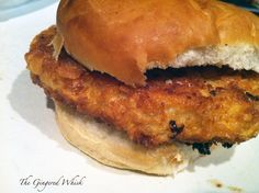 Breaded Pork Tenderloin Sandwich...I used to eat one of these almost every day when I was in my early 20's and working in a factory back in Illinois...FABULOUS!