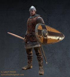 medieval warrior game model, Süleyman Umut FINDIK on ArtStation at http://www.artstation.com/artwork/medieval-warrior-game-model