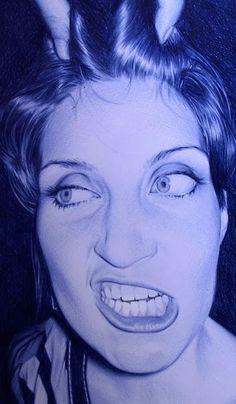 Ballpen drawings by Juan Francisco Casas Bic Pens, Ballpoint Pen Drawing, Pen Sketch, Art Sketches, Portraits, Lomography, Portrait Illustration, Beautiful Drawings, Portrait Inspiration