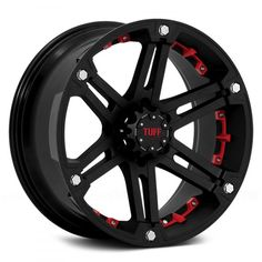 TUFF® - T01 Flat Black with Red Inserts