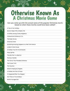 Christmas Movie Trivia, Popular Christmas Movies, Christmas Gift Games, Printable Christmas Games, A Christmas Story, Christmas Stuff, Christmas Ideas, Christmas Crafts, Christmas Decorations