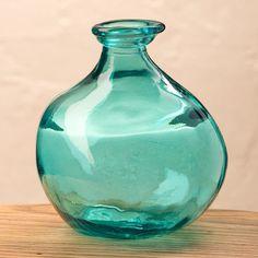 "Bubble Recycled Glass Balloon Vase, 7"" | VivaTerra"