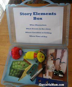 Story elements box
