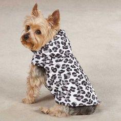Zack & Zoey Snow Leopard Dog Vest at BaxterBoo