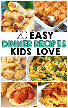 20 Easy Dinner Recipes That Kids Love... Awesome!