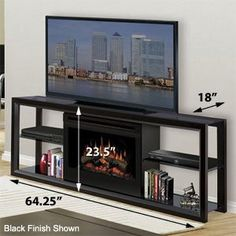Dimplex Novara Black Electric Fireplace Media Console - SAP-300-B