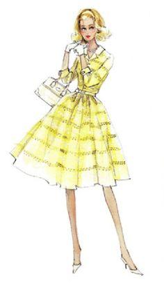 Robert Best Silkstone Evening Gown Barbie Sketch | Barbie Artwork ...