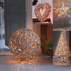 LED-Rattan-Leucht-Objekte