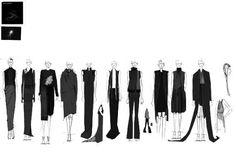 Fashion Portfolio - fashion design lineup, collection development - fashion illustration; fashion sketchbook // Katie Hilderbrand