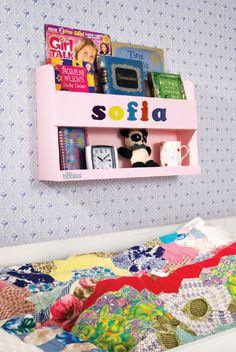 Scaffale per Letto a Castello Personalizzato Tidy Books #regali #natale #personalizzati #sofia #bambini