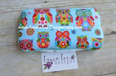 Colorful Retro Owls Fabric Covered Boutique by LauraLeeDesigns108