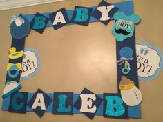 Baby Shower Frame, Baby Shower Photo Booth, Baby Shower Niño, Baby Shower Themes, Baby Shower Table Decorations, Baby Shower Centerpieces, Baby Decor, Baby Shower Crafts, Baby Crafts