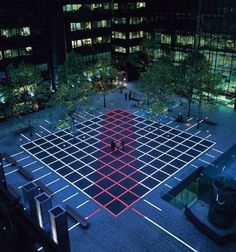 A cutting-edge LED lighting project which has brought a sense of exuberant fun to the heart of one of London's financial centres. The newly installed inground lighting installation, one of the world's largest exterior lighting projects using colour-change LEDs, turns Finsbury Avenue Square, in the Broadgate complex, into a dynamic, ever-changing spectacle.