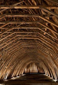 Heart of oak interior of Saint-Girons church in Monein, France #ChurchInterior #MostBeautifulArchitecture