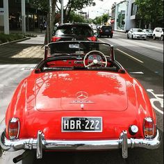 Beautiful Mercedes-Benz #190SL spotted in Melbourne, Australia by clivedsmith (instagram). For all your Mercedes Benz #190SL restoration needs please visit us at http://www.bruceadams190sl.com. #BruceAdams190SL #190SLRestorations