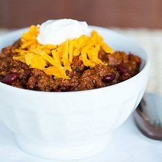 Easy Chili Recipe | Brown Eyed Baker --- super easy and super tasty chili recipe!! This was a big hit!