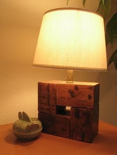 Pallet/Found wood lamp.