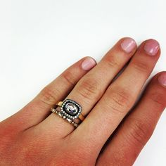 Our newest rose cut baby- horizontal and totally stackable! What do you think of the new shape? #oxidized #jewels #diamonds #bling #unique #vintage #handcrafted #rings @singlestonemissionstreet