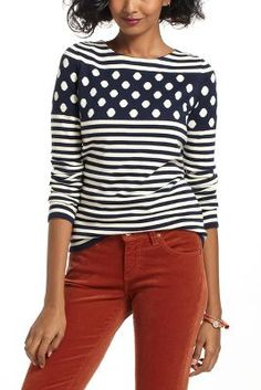 Stacked Spots Pullover - Anthropologie sweater event 30% off sweaters this weekend #FollowFriday