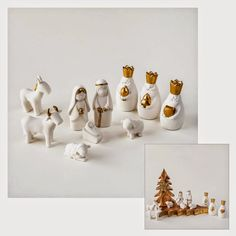Modern Design - Design Blog about Modern Furniture Design: miniature white nativity set