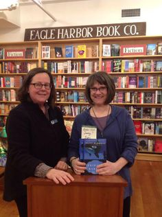 Author Diane Drummond (right) after her event.