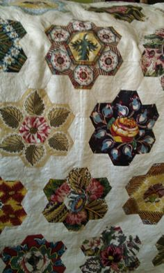 1840 quilt top historic Wiley house, bloomington, IN/                   fussy cut!