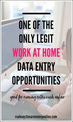 Here's some info on one of the only legit work at home data entry opportunities out there. You won't earn a full-time income doing this, but it can be some extra money here and there.