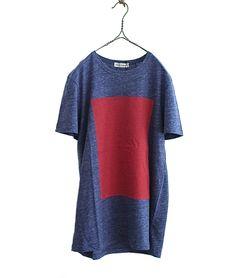 OLIVER SPENCER スクエアプリントTシャツ Shine Tee(NAVY) - FLORAISON