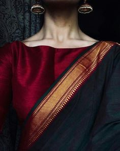 Get the ultimate guide on how to create your own designer saree blouses, with all the tops you have in your closet. Get the latest on saree drapes and new styles. All images belong to their respective owners, contact us for a credit saree Saree Blouse Patterns, Sari Blouse Designs, Look Fashion, Indian Fashion, Fashion Men, Fashion Outfits, Indian Dresses, Indian Outfits, Ladies Day