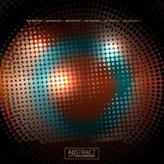 Shiny circle background design vector 01