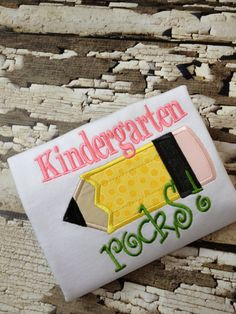 Kindergarten Rocks -  Shirt - School Rocks Tshirt - Back To School Shirt via Etsy