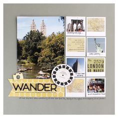 """Wander"" love this travel scrapbook page!"