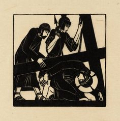 Eric Gill, 'Jesus Falls the Third Time' 1917