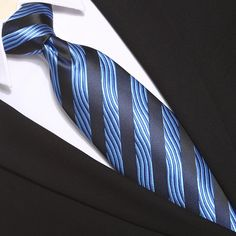 This blue striped extra long tie would be perfect for any formal or casual occasion. It would make a perfect gift and an excellent collection to men's wardrobe. Extra Long Ties, Men's Wardrobe, Tall Guys, Casual, Blue, Collection, Fashion, Moda, Fashion Styles