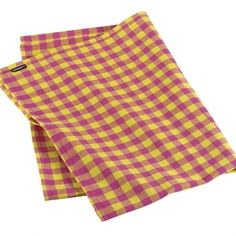 Amnesty pink and yellow gingham tea towels
