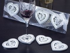 "The ""Love within My Heart"" Heart Shaped Coasters #heart #wedding #party #favors #heartcoaster"