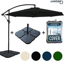 Jarder Parasol Set – 3m Cantilever Garden Parasols Black Review  Jarder Parasol Set – 3m Cantilever Garden Parasols Black. Jarder Deluxe Huge 3m Cantilever Parasol with Base and also Cover Bundle! Ideal for Gardens, Patios, Medical spa's, Services and …
