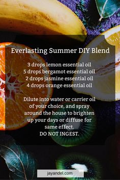 Use essential oils to bring back those memories and feelings of summer, and help you through the dreariest of cold nights. Jasmine Essential Oil, Patchouli Essential Oil, Essential Oil Diffuser Blends, Orange Essential Oil, Doterra Essential Oils, Yl Oils, Young Living Oils, Young Living Essential Oils, Plant Therapy