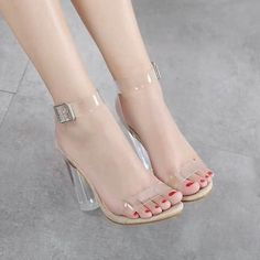 transparent pvc Jelly sandals Open Toed high heels pumps women shoes ladies party shoes heels wedding shoes talon femme-in Women's Pumps from Shoes on AliExpress Platform Shoes Heels, Wedding Shoes Heels, High Heel Pumps, Pumps Heels, Women's Shoes, Heeled Sandals, Shoes Style, Frauen In High Heels, Transparent Heels