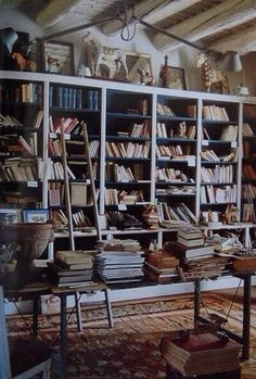 Old room full of books and magical accessories