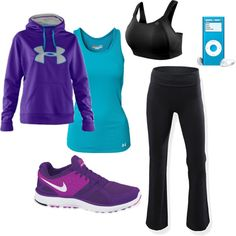 Purple + blue for working out